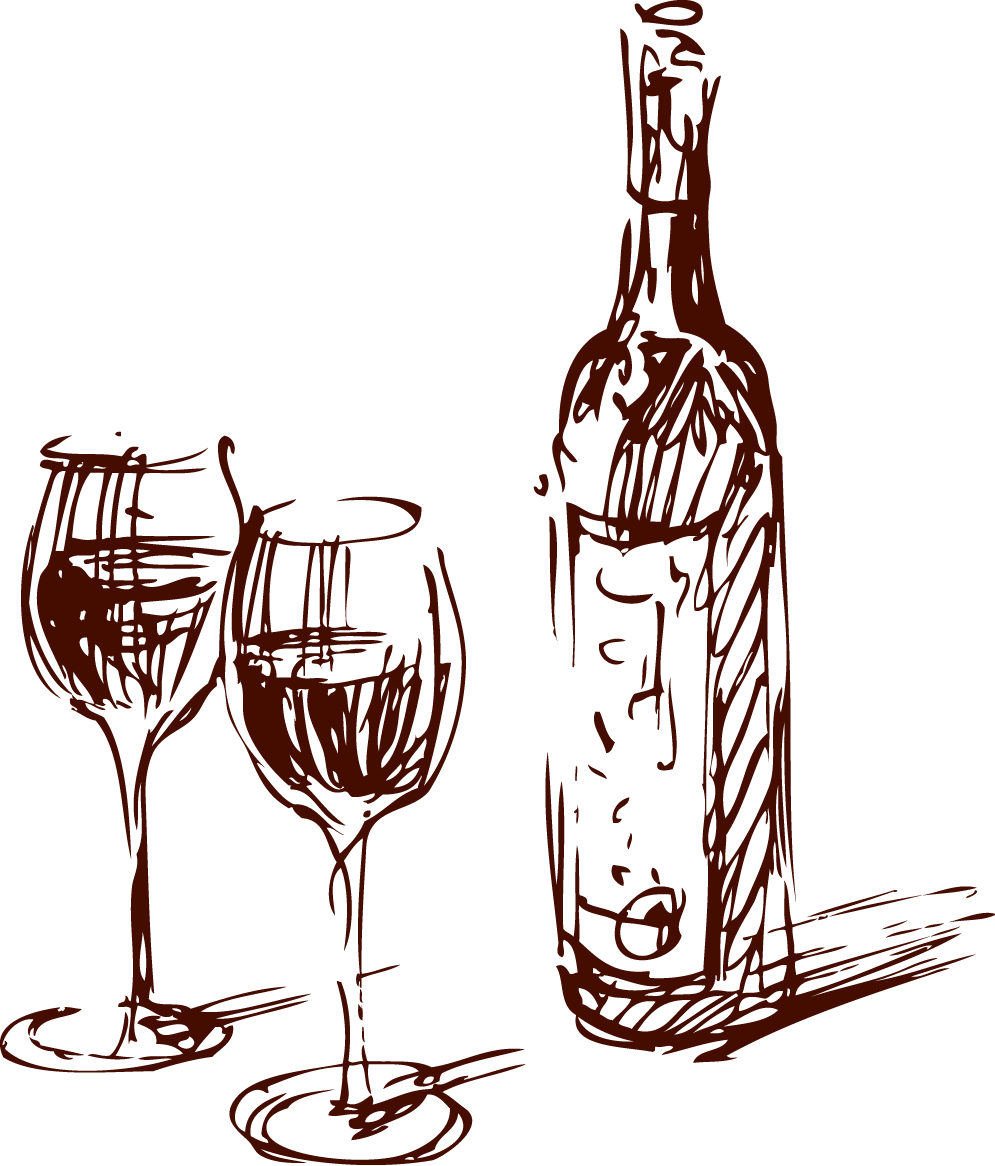 wine_glass&bottle_illustration - Bent on Fine Wine